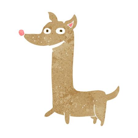 funny cartoon dog Illustration