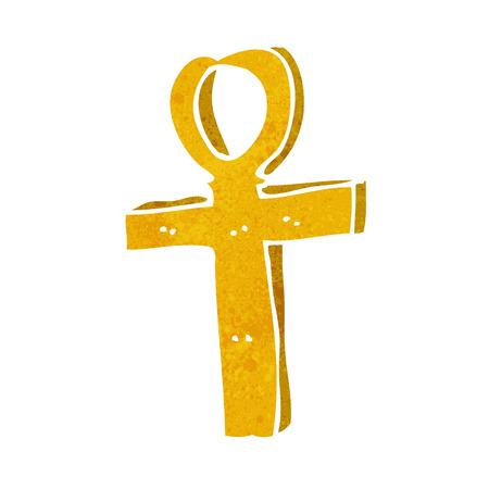 ankh cross: cartoon ankh symbol Illustration