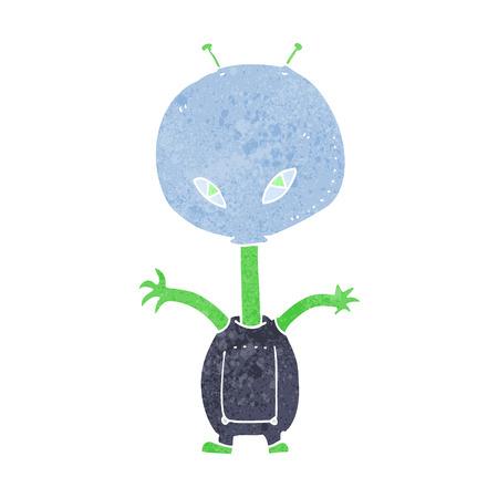 cartoon space alien Stock Vector - 26137379