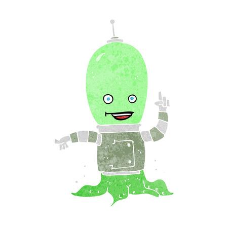 cartoon alien spaceman Stock Vector - 26137826