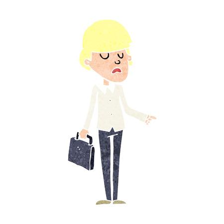arrogant: cartoon arrogant businessman pointing