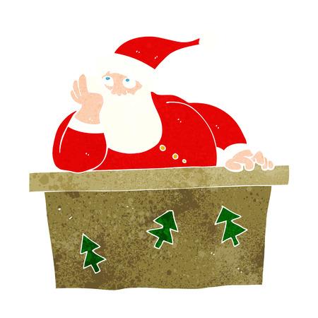 cartoon bored santa claus