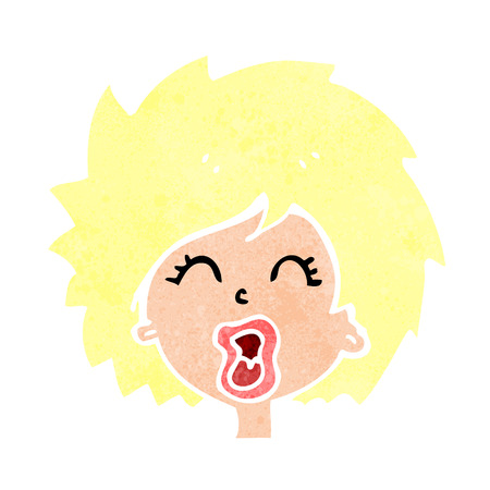 cartoon woman screaming Vector