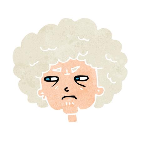 cartoon bitter old woman Vector