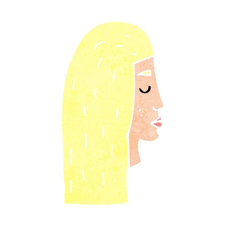 perfil de mujer rostro: dibujos animados perfil rostro femenino