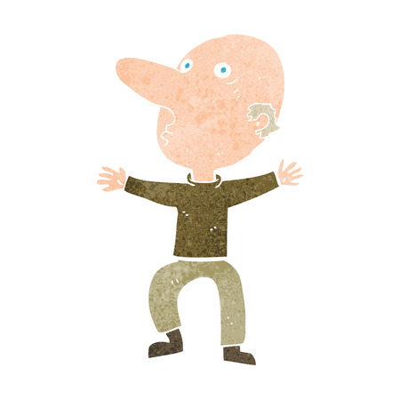 middle aged: cartoon worried middle aged man Illustration
