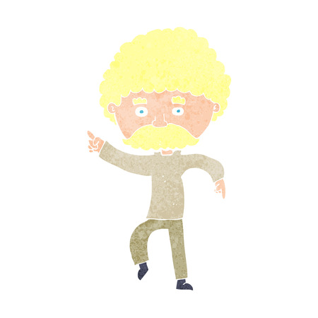 cartoon seventies style man disco dancing Vector
