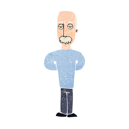 annoyed: cartoon annoyed balding man Illustration