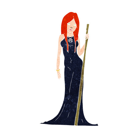 wicca: cartoon sorceress
