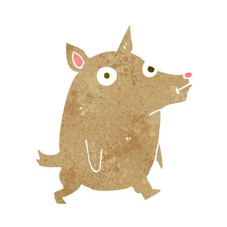 pent: cartoon funny little dog