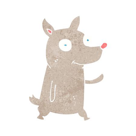 cartoon little dog waving Stock Vector - 26197877