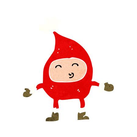 Cartone animato divertente personaggio di Natale Archivio Fotografico - 26266349