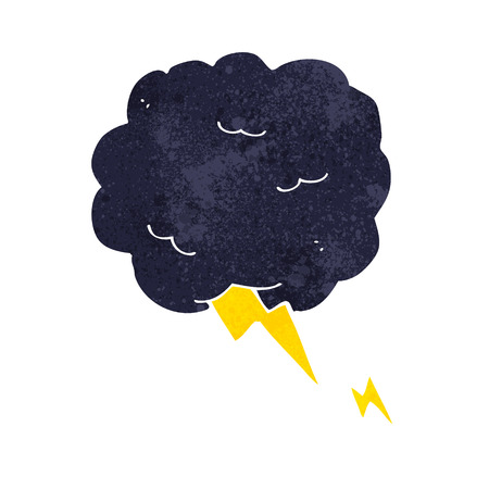 cartoon thundercloud symbol Vector