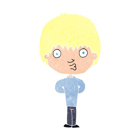 whistling: cartoon whistling boy Illustration