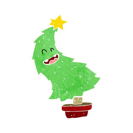 cartoon dancing christmas tree stock vector 26266680