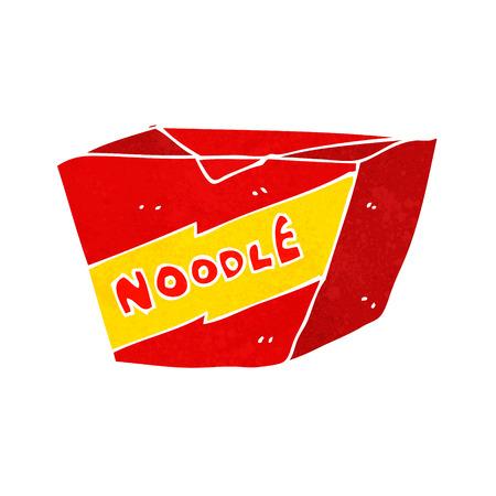 chinese takeout box: cartoon noodle box