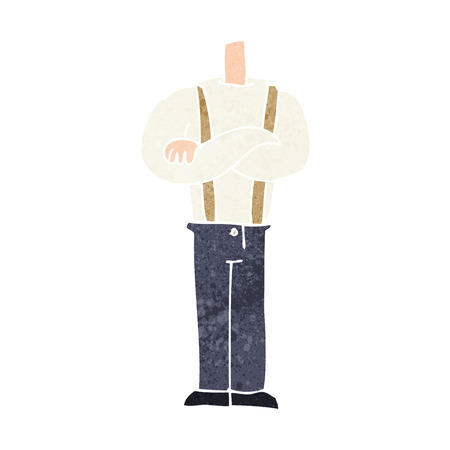 folded arms: cartoon body with folded arms (mix and match cartoons or add own photos)