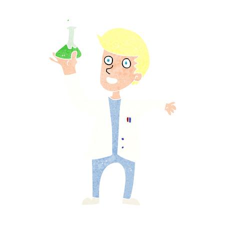 cartoon happy scientist Vector