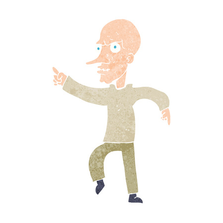 cartoon angry old man Vector
