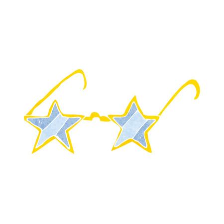 estrella caricatura: gafas de estrella de dibujos animados