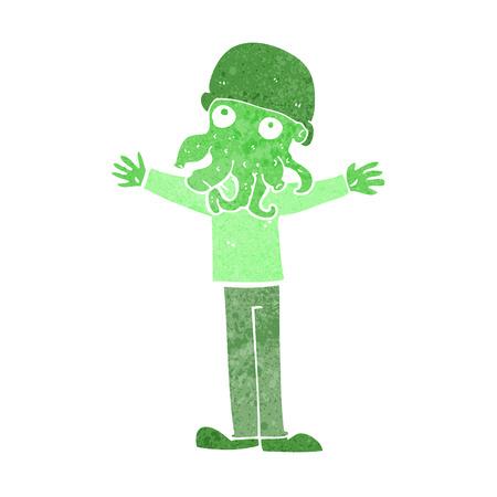 rostro hombre: historieta extranjera cara del hombre calamar