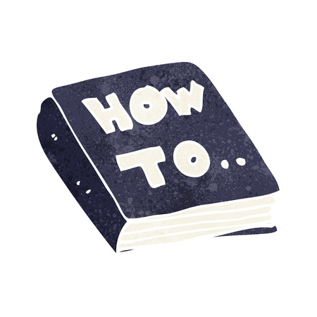 cartoon how to book Ilustracja