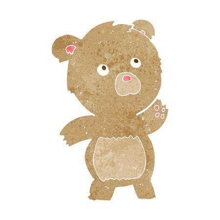meraklı: cartoon curious teddy bear