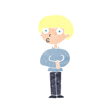 meraklı: cartoon curious man
