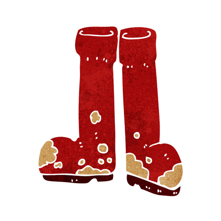 cartoon muddy boots Illustration