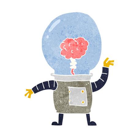 cyborg: cyborg robot de dibujos animados