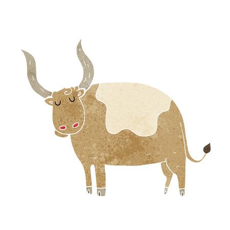 ox: cartoon ox Illustration