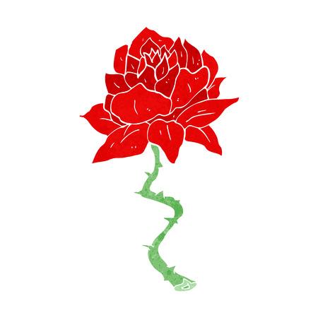 rose tattoo: cartoon tattoo rose Illustration