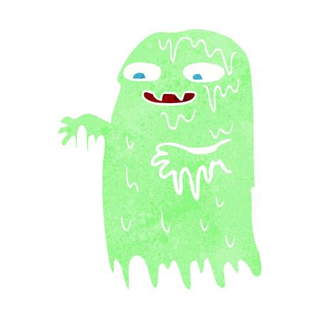 slime: cartoon gross slime ghost
