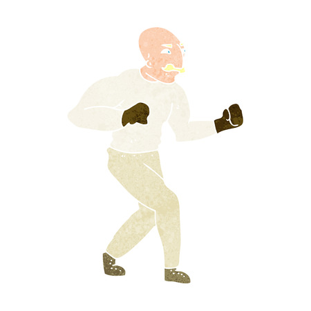 cartoon victorian boxer Vector