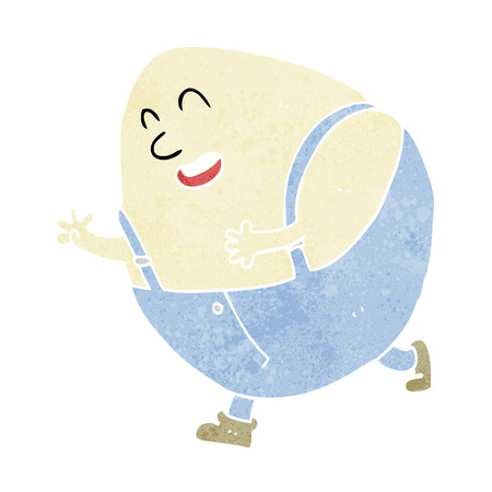 cartoon humpty dumpty egg character Vector