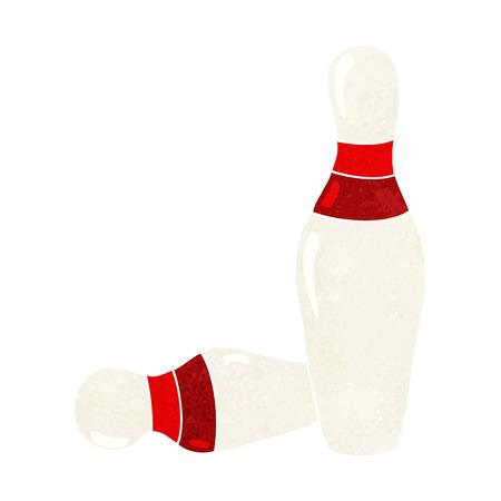 quilles: bande dessin�e dix quilles de bowling broches