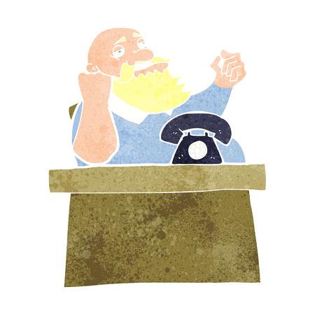 arrogant: cartoon arrogant boss man