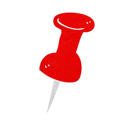 drawing pin: cartoon drawing pin