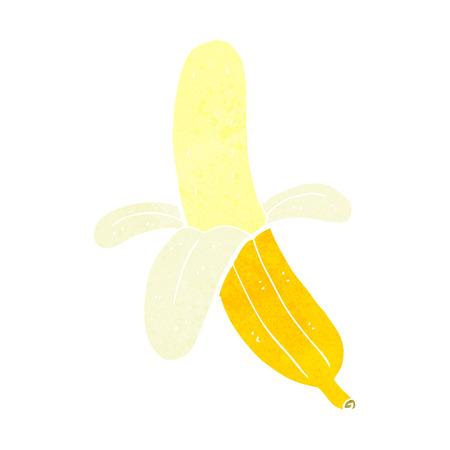 peeled banana: cartoon peeled banana