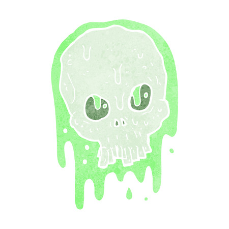slimy: cartoon slimy skull