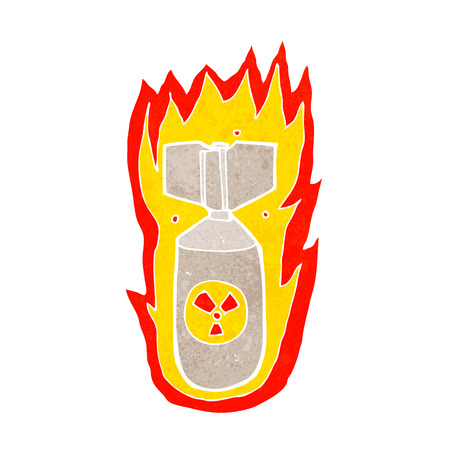 cartoon flaming bomb Vector
