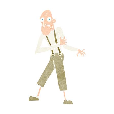 heart attack: cartoon old man having heart attack