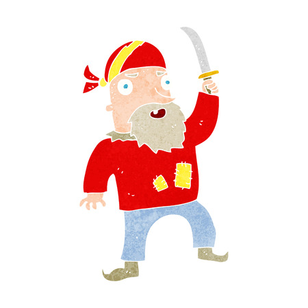 pirate crew: cartoon pirate Illustration