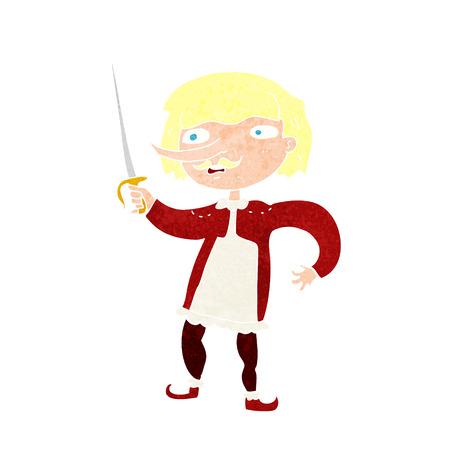 mosquetero: mosquetero de dibujos animados Vectores
