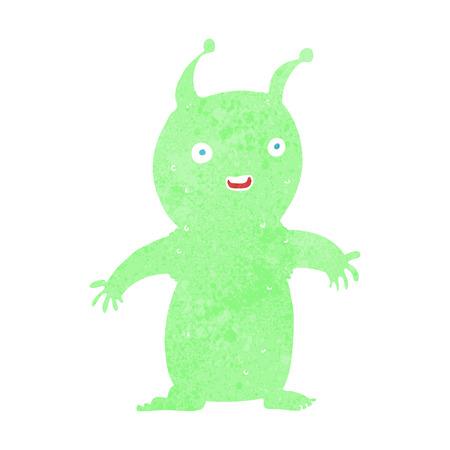 cartoon happy little alien Stock Vector - 26279718
