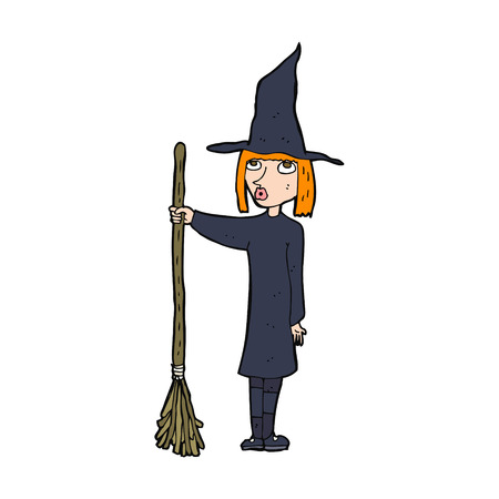 cartoon witch Vector