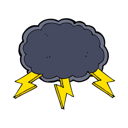 cartoon cloud and lightning bolt symbol Stock Vector - 27814916