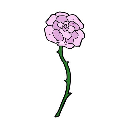 rose tattoo: rose  cartoon