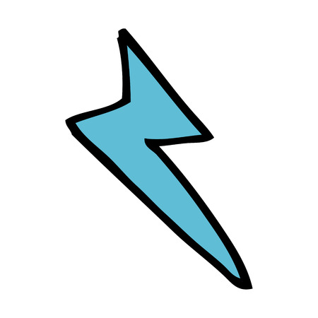 cartoon lightning bolt symbol Vector