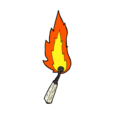 cartoon burning match